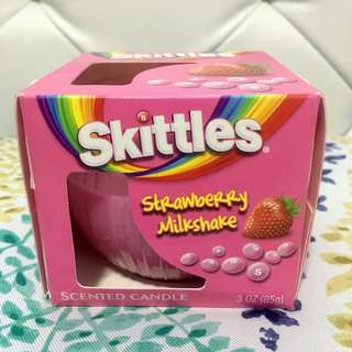 Skittles Strawberry Milkshake Scented Candle