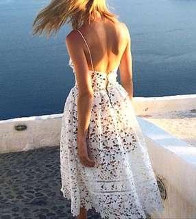 Self Portrait Azalae Lace Dress in White UK 6/Au 6-8 (RRP $419-525) 🇬🇧