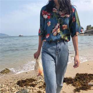 (INSTOCK) Tropical Floral Blouse