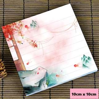 Sakura valley scenic / watercolour notepad #12