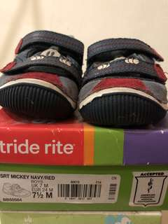 Stride Rite Boys Mickey Mouse sneakers