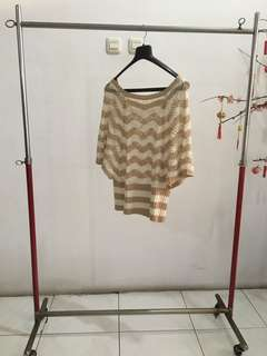 Brown/White Outer Knitwear