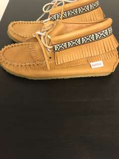 Made in Canada moccasins (genuine leather) - worn twice