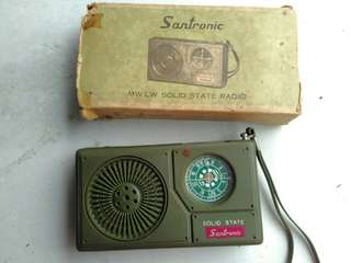 Santronic Radio Vintage made in Hong Kong including original box