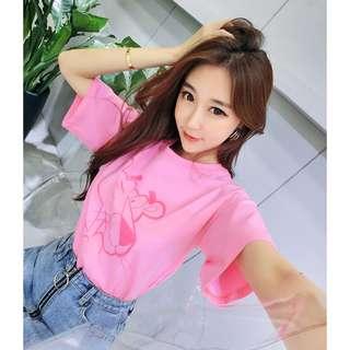 韓版卡通印花上衣寬鬆百搭t恤