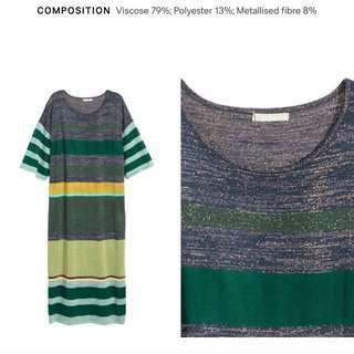 H&M glitter maxi slit dress