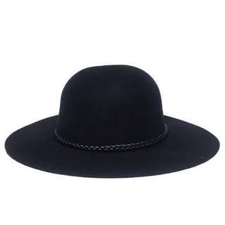 Charming Charlie Black Floppy Hat