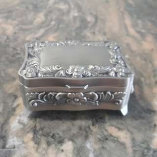 Pewter Rectangle Jewellery Box