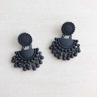 Black Dangle Earring