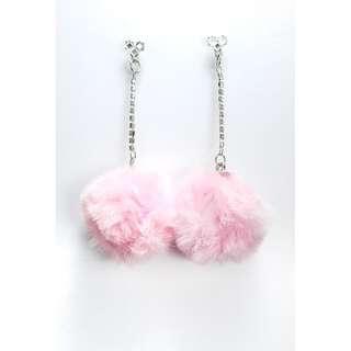 Large Pink Tassel earrings