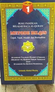 Buku Panduan Belajar Al-Quran Metode Bilqis Jilid 1
