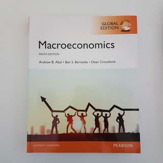 Macroeconomics, Global Edition (9th Edition) Textbook - By Andrew B. Abel, Ben Bernanke & Dean Croushore