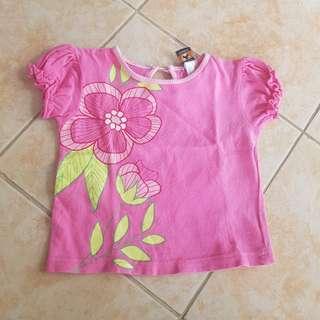 Teddy's Choice Top 12m Pink shirt baby