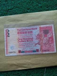 1982年渣打銀行100圓