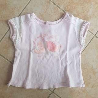 Cotton Stuff top 6-12m baby t shirt