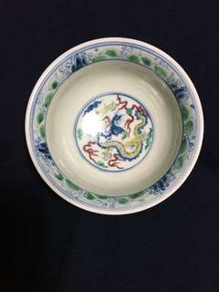 Ming dynasty Cheng Hua mark five Color bowl 12 cm Dia. Offer price .