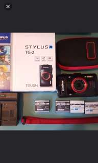 Olympus TG2 Tough Digital Camera (plus Underwater Housing)