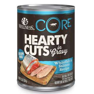 Wellness® CORE Hearty Cuts Whitefish & Salmon Canned Dog Food 354g (12/24pcs)
