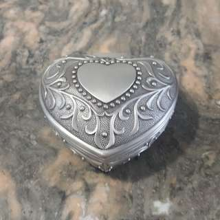 Pewter Heart Jewelry Box