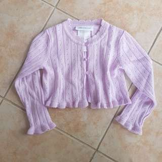 Old Navy baby pink cardigan 12m missing one button