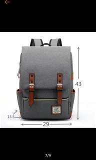 Canvas korean style Backpack
