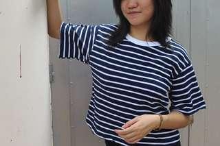 Korean Tee, Stripes Tee or Stripes Shirt
