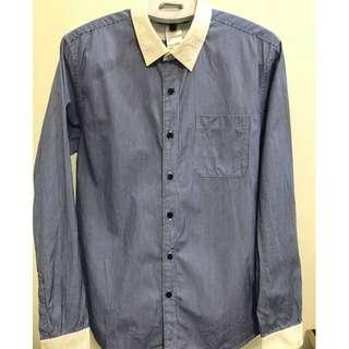 香港品牌 IT集團旗下 5CM 藍色直條紋襯衫 (46)