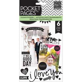 Me & My Big Ideas - Pocket Pages Clear Stickers - Love