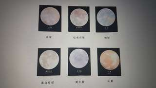 Galaxy Planets Post It
