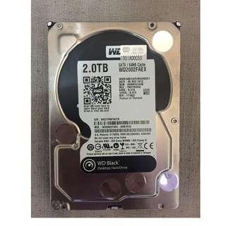 2TB 7200rpm Hard Drive x2 (Western Digital 有保養 & Hitachi 冇保養)