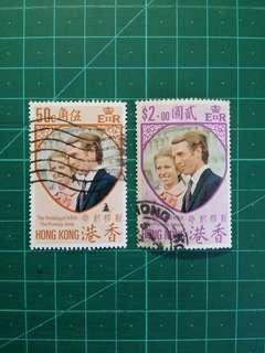 1973 安妮公主大婚 舊票一套
