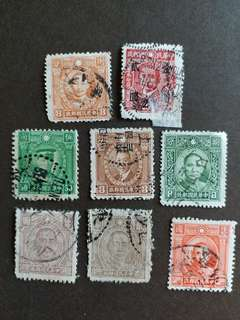 中國郵票民國時期已銷郵票A011