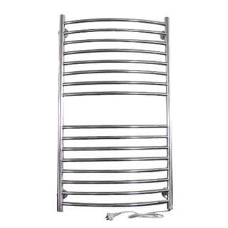 NEW 200W Wall Mounted Stainless Steel Heated Towel Rail - 16 Bar Electrical Rack