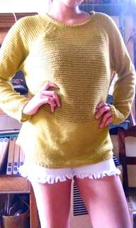 Yellow green sweater