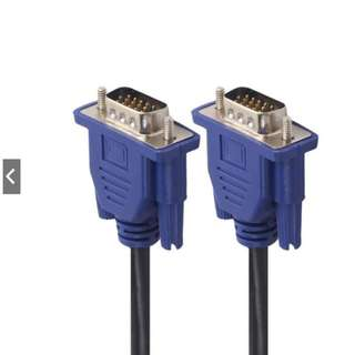 *FREE MAILING*INSTOCKS*Low voltage VGA Cable 1.8 meters, 15pins, Male to Male