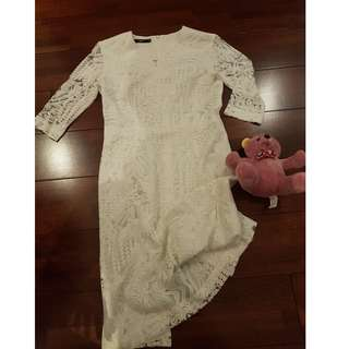 White lace dress size S