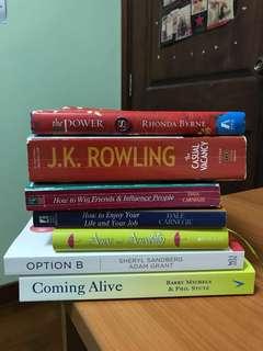 Self Help Books and Novels
