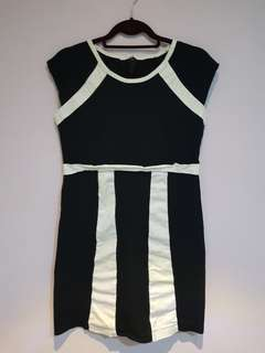 Simple black with striped detail dress