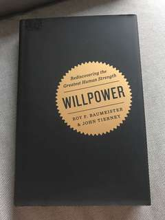 willpower by roy f baumeister