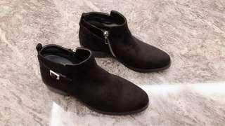 漢神專櫃購入」AS 帥氣個性真皮短靴