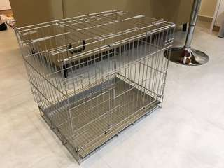 Stainless steel Dog cage/crate/pee pan