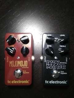 TC Electronic Mojomojo Overdrive and Dark Matter Distortion