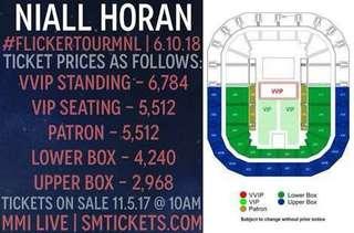 Niall Horan Flicker Tour Manila Tickets