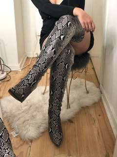 I Am Gia Snake Thigh High Boots