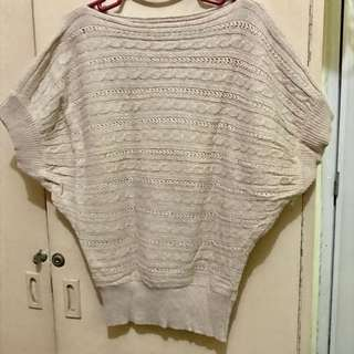 Beige Thick Knitted top
