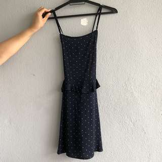 H&M Polka Dot Pinafore Dress
