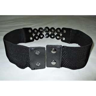 Black Stretch Belt - 30.5 inches