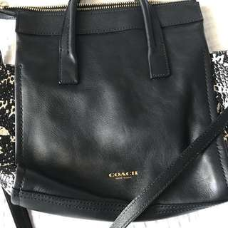 REDUCED Coach Black Leather Crossbody/Handbag