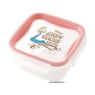 [PO] Disney Storage Container M size 2pc Set Alice in Wonderland Mickey & Minnie