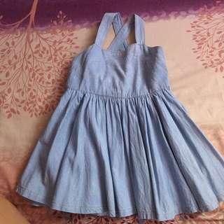 Kids denim jumper dress